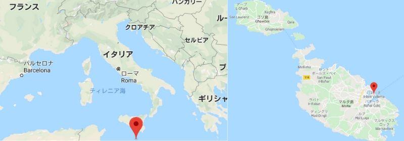 マルタ共和国 マップ