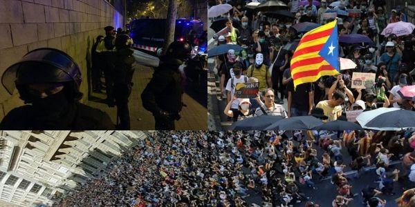バルセロナ デモ