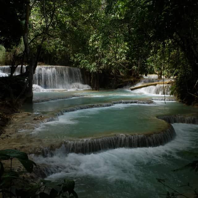 ルアンパバーン 滝