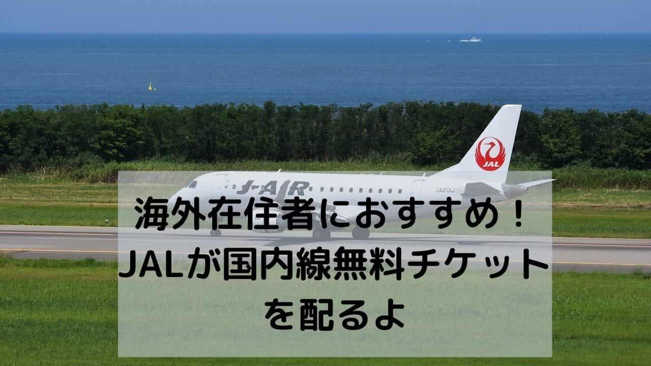 JAL キャンペーン 国内線無料チケット Win a trip