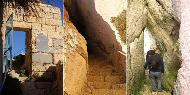 マルタ ゴゾ島 シュレンディ(Xlendi)カロライン洞窟 Caroline cave