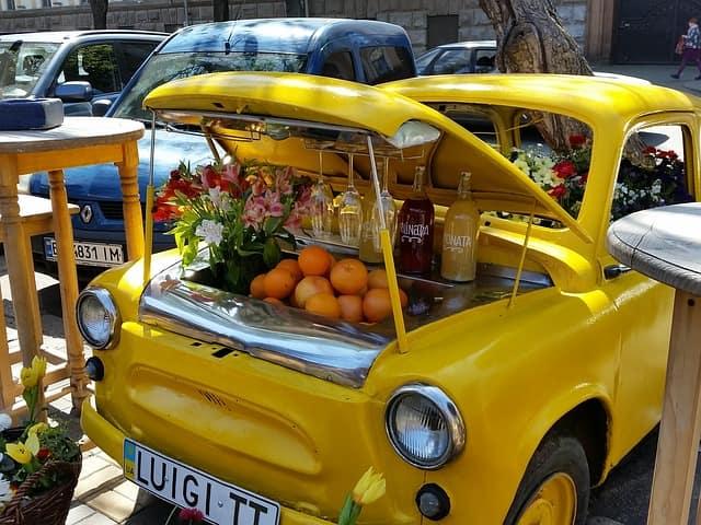 ウクライナ マーケット 食費 物価
