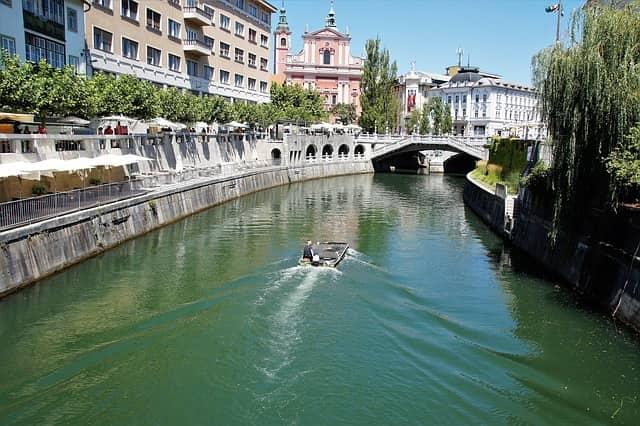 ヨーロッパの最も美しい都市 リュブリャナ スロベニア