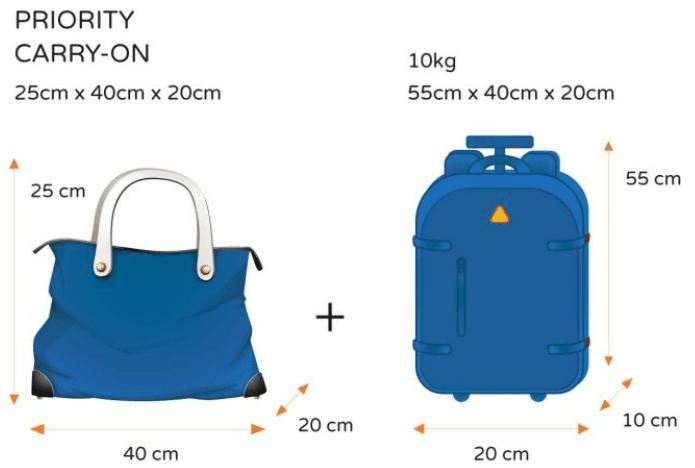 Ryanair(ライアンエアー)手荷物のサイズ