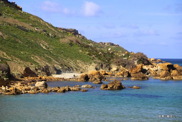 マルタ ゴゾ観光 サンブラス湾(San blas bay) サンブラスビーチ(San Blas Beach)