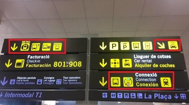 バルセロナ空港から市内中心部に行く方法