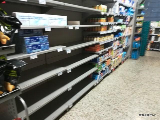 コロナウイルス・スペイン、バレンシアのスーパーの状況