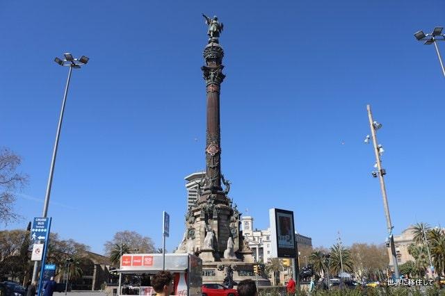 ランブラス通りのコロンブスの記念塔