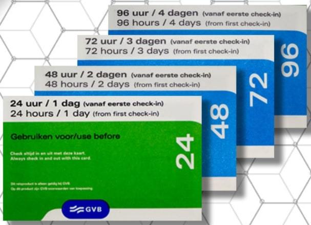 オランダ トラム・バス・メトロのチケット